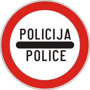B35 ZABRANA PROLASKA BEZ  ZAUSTAVLJANJA - POLICIJA